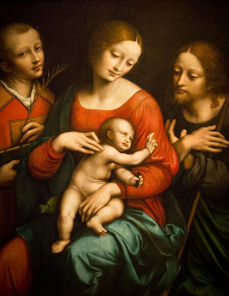 Giovanni Pietro Rizzoli (Il Giampietrino) - Madonna e Bambino con Santo Stefano e San Giovanni Battista